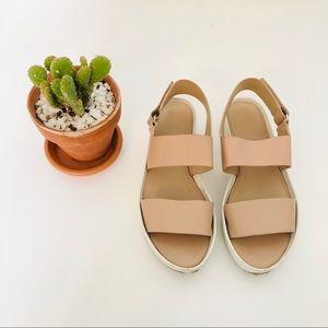 Vince Leather Platform Sandals